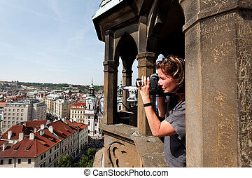 Parg, Old Town Square, Town Hall, view from tower - Parg,...