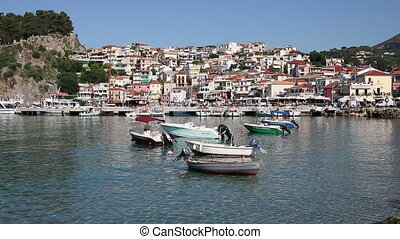 Parga cityscape Greece summer season