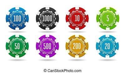 parier, puces casino