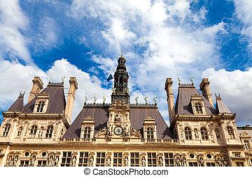 parigi, città, salone