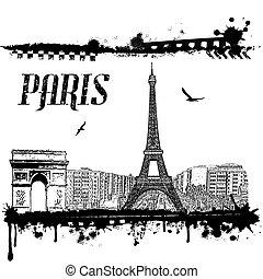 parigi, manifesto, grunge