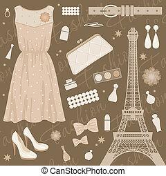 parigi, moda, set