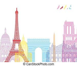 parigi, orizzonte, pop
