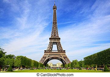 parigi, simbolo, eiffel torreggia