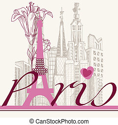 parigi, urbano, giglio, architettura, scheda