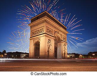 parijs, de, boog, triomphe