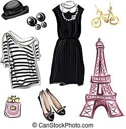 parijs, lente, stijl, mode