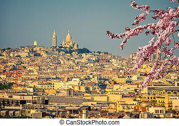 parijs, montmartre, aanzicht, coeur, sacre