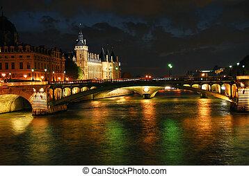 parijs, nachtelijk