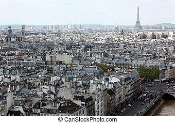 parijs, notre, frankrijk, kathedraal, aanzicht, mokkel