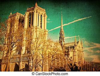 parijs, ouderwets, frankrijk