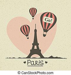 parijs, ouderwetse