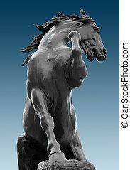 parijs, paarde, museum, standbeeld, d'orsay