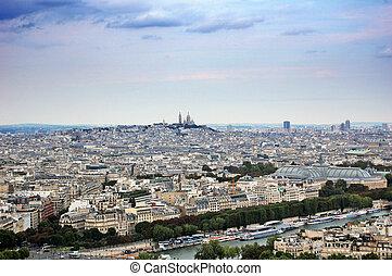 parijs, panoramische mening