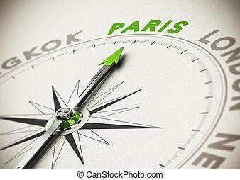 parijs, reis bestemming, -, idee