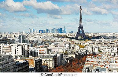 parijs, toren, aanzicht, panorama, eiffel