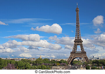 parijs, toren, eiffel, frankrijk