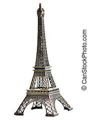 parijs, toren, eiffel, model, vrijstaand