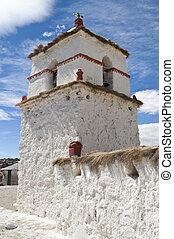 Old adobe Curch in Parinacota, Chile