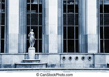 Paris #62 - An old building with golden statues in Paris,...
