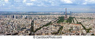paris, aéreo, panorama