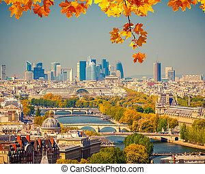 Paris, aéreo, vista