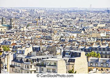 paris, aérien, vue