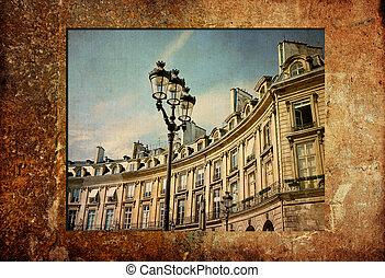paris, altmodisch, frankreich