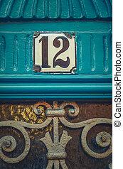 Paris Apartment Door Number