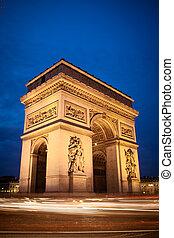paris, arc triomphe, france