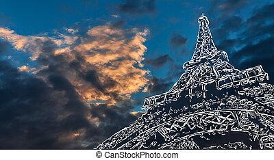 paris, art, fond