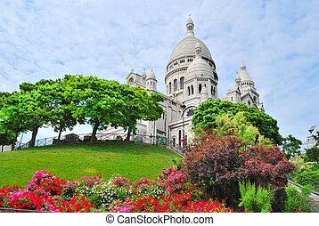 paris., basílica, sacre-coeur