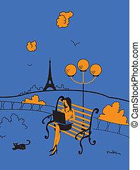 paris, bezaubern, bereich
