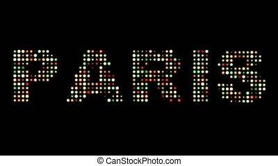 paris, bunte, leuchtdiode, lichter