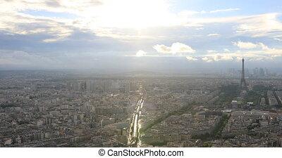 Paris city cityscape - cityscape of Tour Eiffel and national...