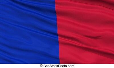 Paris City Close Up Waving Flag