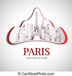 Paris city emblem