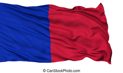 Paris City Isolated Waving Flag
