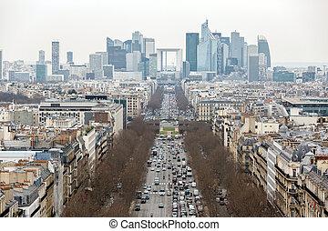 Paris cityscape France