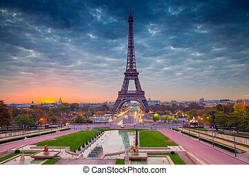 Paris. - Cityscape image of Paris, France with the Eiffel ...