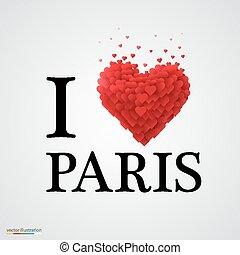 paris, coeur, signe., amour