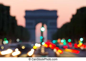 paris, de, arc, background:, triomphe