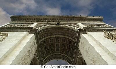 paris, de, arc, triomphe, france