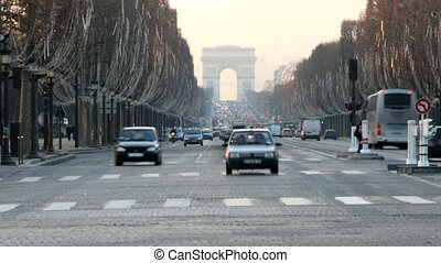 paris, de, arc, triomphe