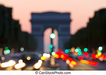 paris, de, arco, background:, triomphe
