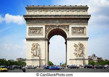 paris, de, arco, triunfo
