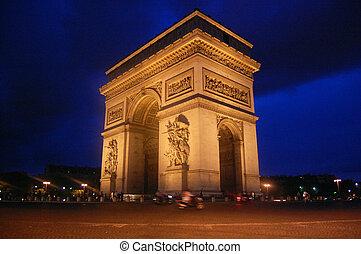 paris, de, bogen, triomphe