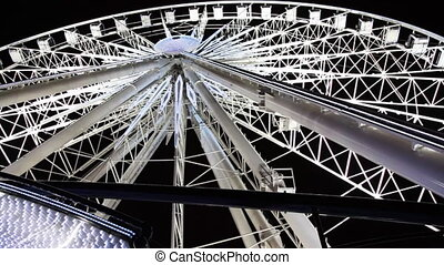 Lighted Ferris wheel at Champs Elysees