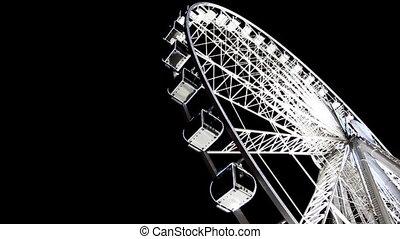 Lighted Ferris wheel at Champs Elysees - PARIS - DECEMBER...