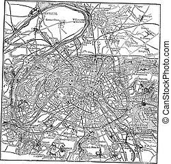 paris, dens, environs, gravyr, årgång